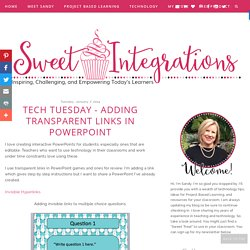 Tech Tuesday - Adding Transparent Links in Powerpoint - Sweet Integrations