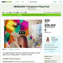 HEX6AGON: Transparent Tiling Vinyl by Sara Czosnyka