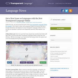 The New Transparent Language Online is Here