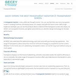 Transparent Monitor & Transparent Screen