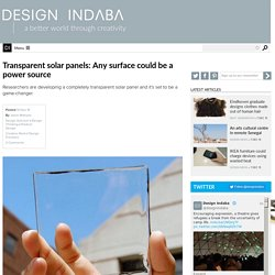Transparent solar panels: Any surface could be a power source