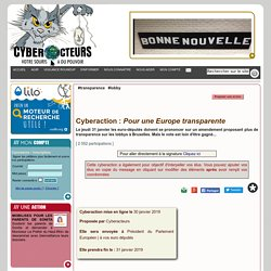 Pour une Europe transparente cyberaction