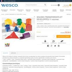 Solides transparents (dispos au CDI) - A classer par volume