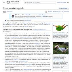 Transpiration végétale