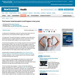 First human head transplant could happen in two years - health - 25 February 2015