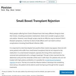 Small Bowel Transplant Rejection – Plexision