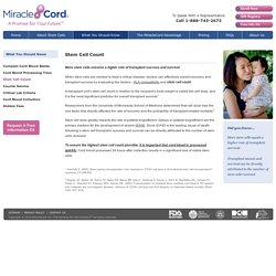 Stem Cell Count and its Importance in Cord Blood Transplants – MiracleCord