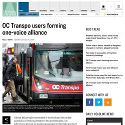 OC Transpo users forming one-voice alliance