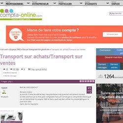 Transport sur achats/Transport sur ventes