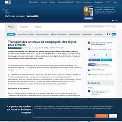 PARLEMENT EUROPEEN 23/05/13 Transport des animaux de compagnie: des règles plus simples