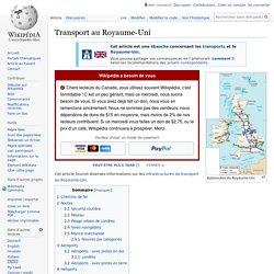 Transport au Royaume-Uni