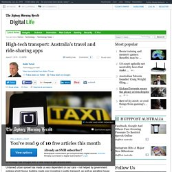 High-tech transport: Australia's travel and ride-sharing apps