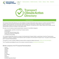 Transport Climate Action Directory