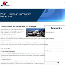Reliable Transport Companies in Melbourne