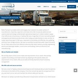 Transport Companies Sydney