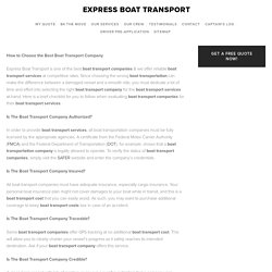 How to Choose the Best Boat Transport Company