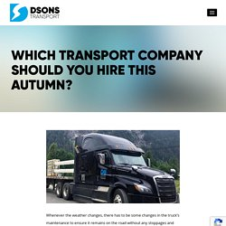 Which Transport Company Should You Hire This Autumn?