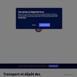 Transport et dépôt des éléments issus de l'altération par elodie_esteve sur Genially