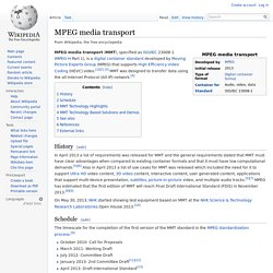 MPEG media transport