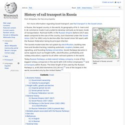 History of rail transport in Russia