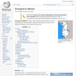 Transport in Albania