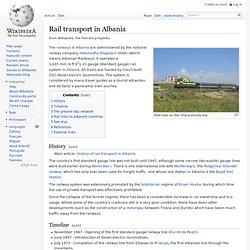 Rail transport in Albania