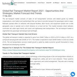 Global Rail Transport Market Data And Industry Growth Analysis
