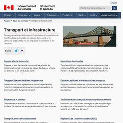 Transport et infrastructure - Canada.ca