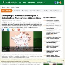 Transport par autocar : un mois après la libéralisation par la loi Macron, le ministère vante déjà son bilan