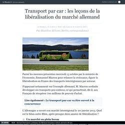 Transport par car : les leçons de la libéralisation du marché allemand