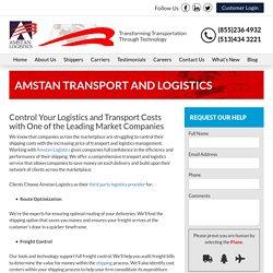 Transport and Logistics Companies - Amstan