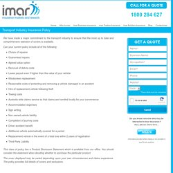 Truck Insurance in Australia from imar