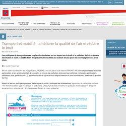 Passer à l'action, Transport et mobilité : améliorer la qualité de l'air et réduire le bruit