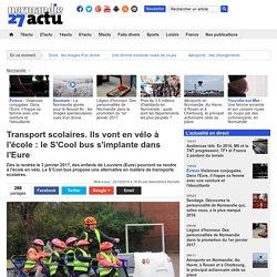 Transport scolaires. Ils vont en vélo à l'école : le S'Cool bus s'implante dans l'Eure