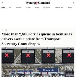 More than 2,800 lorries queue in Kent as as drivers await update from Transport Secretary Grant Shapps