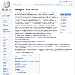 TLS - SSL ?