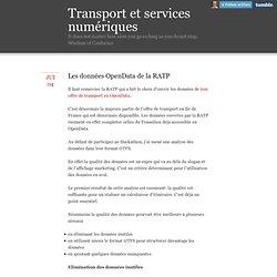 Transport et services numériques