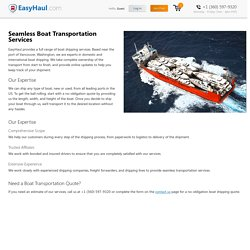 Boat Transport and Shipping Services in USA - Easyhaul