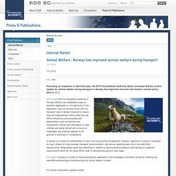 EFTASURV_INT 13/07/18 Norway has improved animal welfare during transport