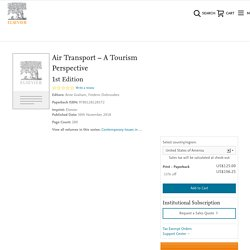 Air Transport – A Tourism Perspective