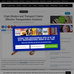 Chain Binders and Transport Chains: Effective Transportation Solutions