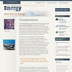How We Use Energy, Transportation — The National Academies