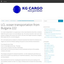 LCL ocean transportation from Bulgaria - export