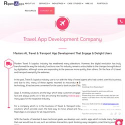 Mobile Apps For Transportation