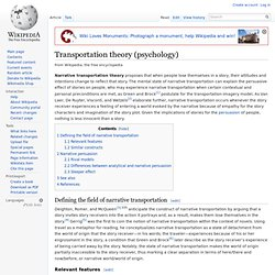 Transportation theory (psychology)