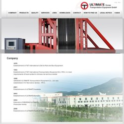 Company | ULTIMATE Europe Transportation Equipment GmbH
