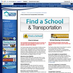 > Find a School and Transportation Information