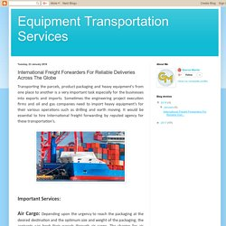 International Freight Forwarders For Reliable Deliveries Across The Globe