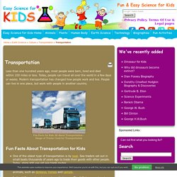 Transportation Facts for KidsEasy Science For Kids