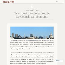 Transportation Need Not Be Necessarily Cumbersome